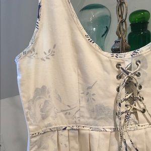 Anthropologie cotton and silk dress